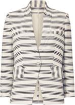 Veronica Beard Striped Knit School Boy Jacket