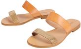 Cocobelle Gold Leather Slide Sandal