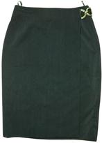 Celine Green Wool Skirt