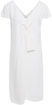 Lanvin Knotted Stretch-pique Mini Dress