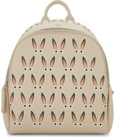 Mcm Ladies Beige Embossed Luxury Polke Star-eyed Bunny Leather Backpack