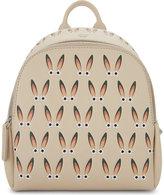 MCM Ladies Beige Embossed Luxury Polke Star-Eyed Bunny Leather Backpack
