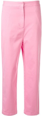 Kuho Cropped Straight-Leg Trousers