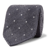 Drakes Drake's - 8cm Pin-Dot Wool and Silk-Blend Tie