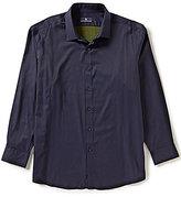 Hart Schaffner Marx Diamond Jacquard Long-Sleeve Woven Shirt