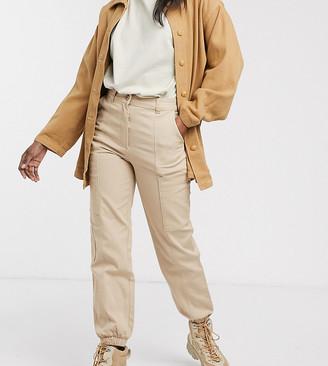 Monki cuffed cargo trousers in beige