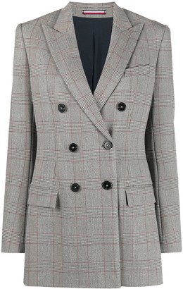 Tommy Hilfiger Double Breasted Check Blazer