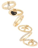 Topshop Women's Set Of 6 Charm Rings