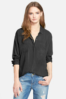 Splendid Button Front Blouse