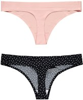 Forever 21 FOREVER 21+ Invisible Seam Thong Set