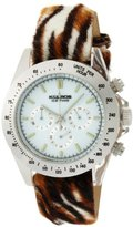 K & Bros Women's 9423-9 Ice-Time Chronograph Animal Print Watch
