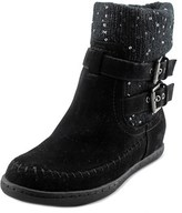 G by Guess Riesling Women Round Toe Canvas Black Boot.