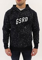 G Star Men's Mikel Hooded Sweatshirt In Splatter Vancouver Sweat Mazarine Blue
