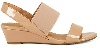 Aerosoles Alma Patent Wedge-Heel Slingback Sandals