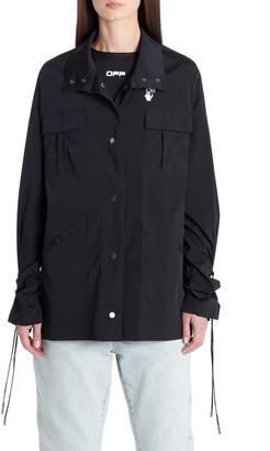 Off-White Stretch Nylon Track Jacket