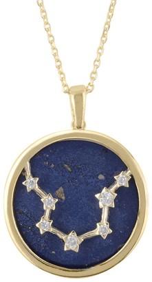 Latelita Zodiac Lapis Lazuli Gemstone Star Constellation Pendant Necklace Gold Aquarius