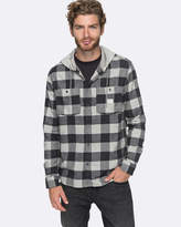 Quiksilver Mens Hustle Runs Long Sleeve Hooded Shirt