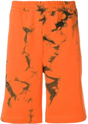 Helmut Lang Die-Dye Track Shorts