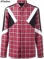 Neil Barrett checked patch detail shirt - men - Cotton - 41