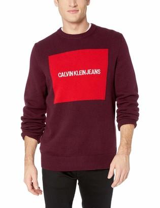 Calvin Klein Jeans Men's Crewneck Logo Sweater