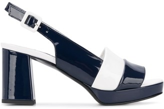 Carel Bergame 75mm two-tone sandals