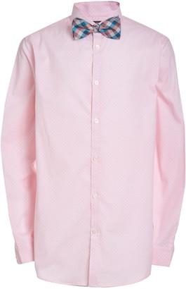 Van Heusen Boys 10-20 Husky Diamond-Print Button-Up Shirt & Clip-On Bow Tie Set