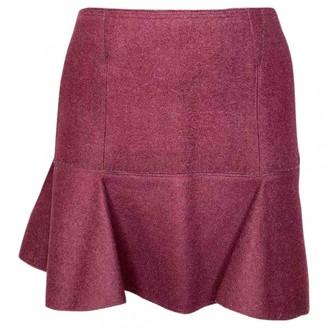 Isabel Marant Burgundy Wool Skirt for Women