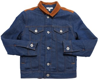 Lanvin Stretch Denim Jacket W/ Velvet Collar