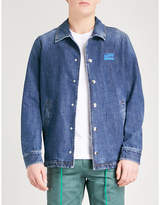 Kenzo Logo-print denim coach jacket