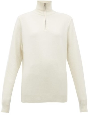 Extreme Cashmere - No.102 Here Half-zip Stretch-cashmere Sweater - Ivory