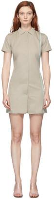 Coperni Khaki Tailored Fitted Mini Dress