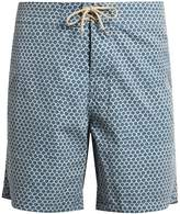 Faherty Fishscale-print swim shorts