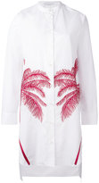 Stella McCartney palm embroidered long shirt - women - Cotton - 40