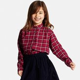 Uniqlo Girls Flannel Check Long Sleeve Shirt