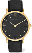 Larsson & Jennings Lugano Suede And Gold-plated Watch - one size