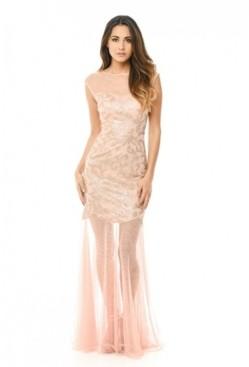 AX Paris Sequin Bodice Chiffon Maxi Dress