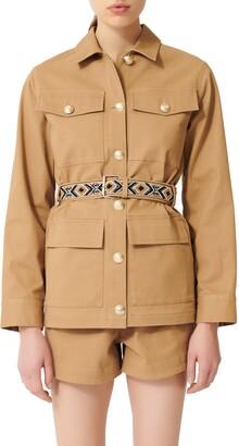 Maje Gipure Belted Jacket