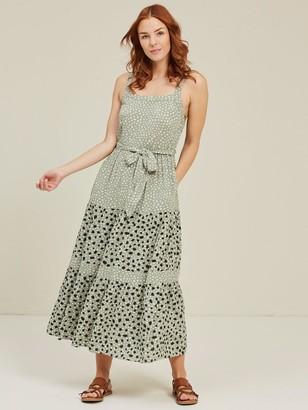 Fat Face Nita Double Spot Maxi Dress - Pistachio