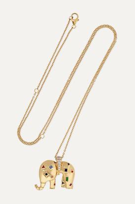 Yvonne Léon 18-karat Gold Multi-stone Necklace - one size