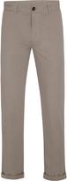 Oxford Slim Leg Cotton Trousers Nvy X