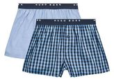 BOSS Woven Cotton Boxer Shorts (Set of 2)