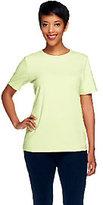 Denim & Co. Essentials Perfect Jersey Short Sleeve Crew Neck Top