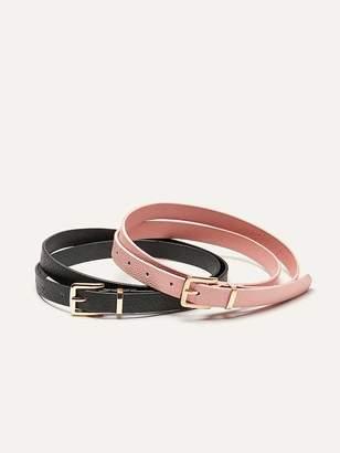 Set of 2 Skinny Belt