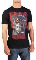 Christian Dior Men's Rose Flannel Print T-shirt Black.