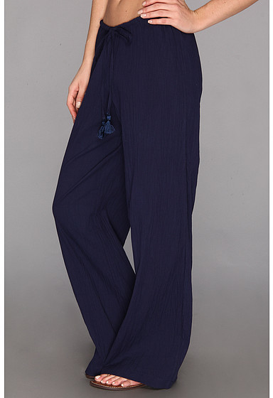 Tommy Bahama Crinkle Cotton Drawstring Long Pant w/ Tassels
