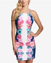 GUESS Floral-Print Apron Halter Dress