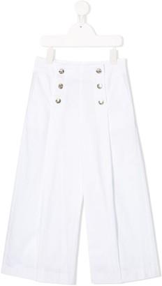 MonnaLisa Buttoned Wide-Leg Trousers