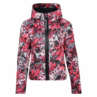 Dare 2b Julien Macdonald Countess Quilted Jacket 8 Red Jewel Floral
