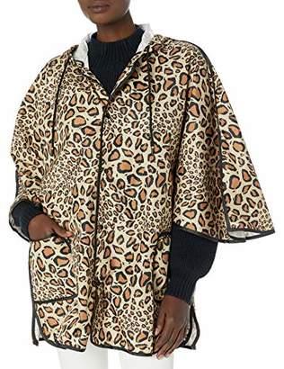 Vince Camuto Women's Leopard Rain Poncho