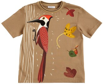 Dolce & Gabbana Woodpecker Print Cotton Jersey T-shirt
